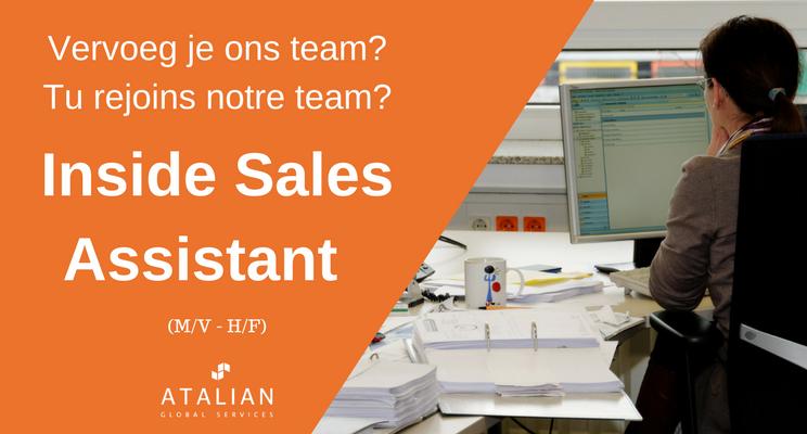 Inside Sales Assistant BXL ATALIAN
