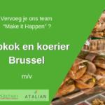 ATALIAN Belgium op zoek naar een gemotiveerde en ervaren M/V om de functie te verzekeren van Hulpkok en koerier te Brussel