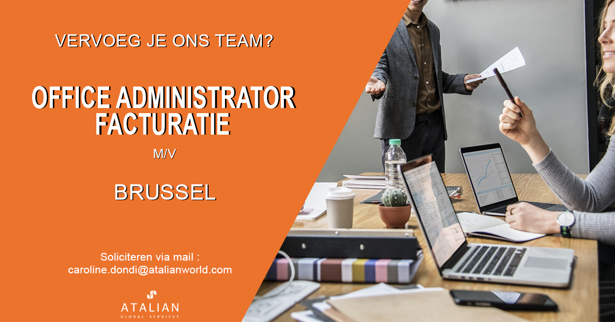Post-OE-FB-Office-Admin-Bsl- Atalian Belgium