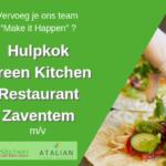 Hulpkok (m/v) Green Kitchen Restaurant - Zaventem